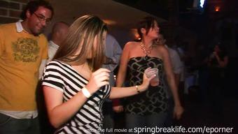 Пьяные девушки обнажаются на вечеринке